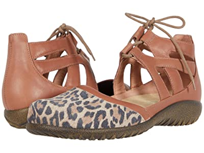 Naot Kata (Cheetah Suede/Mocha Rose Leather) Women