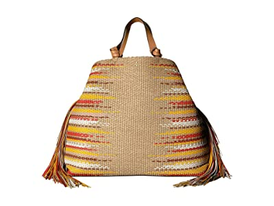 Tory Burch Aidan Fringe Tote (Natural (2)) Handbags