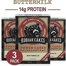 Kodiak Cakes Protein Pancake Power Cakes, Flapjack & Waffle Baking Mix, Buttermilk, 20 oz (Pack of 3)