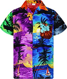 Hawaiian Shirt for Men Funky Casual Button Down Very Loud Shortsleeve Unisex Surf