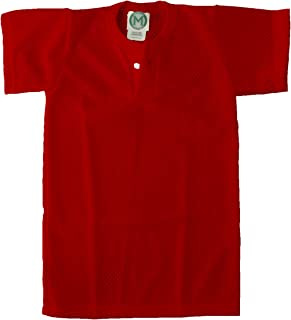 EMC Sports Unisex Two Button Youth Mesh jersey, Red, Medium