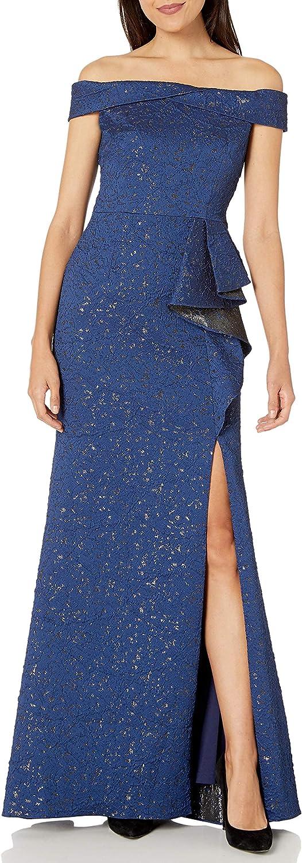 Adrianna Papell Women's Metallic Jacquard Gown
