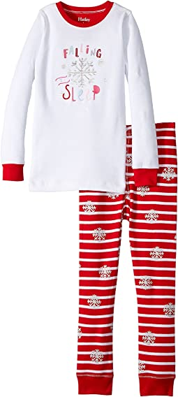 Hatley Kids - Falling To Sleep Waffle PJ Set (Toddler/Little Kids/Big Kids)