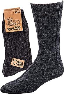 socksPur, Calcetines 100% lana virgen, 2 unidades