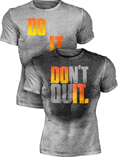 Sweat Activated Funny Motivational Workout Shirt, Do It - Don't Quit
