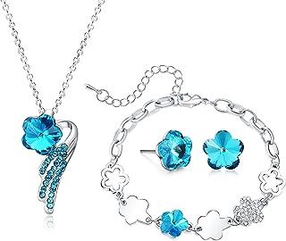 Majesto Jewelry Set - Necklace Pendant Bracelet Stud Earrings for Women Teens Little Girls Kids Gift