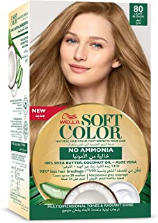 Wella No Ammonia Soft Hair Colour Kit, 80 Light Blonde, 125 ml