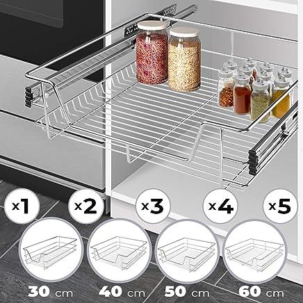 Jago Tiroir Téléscopique De Cuisine   Largeur (30, 40, 50, 60 Cm