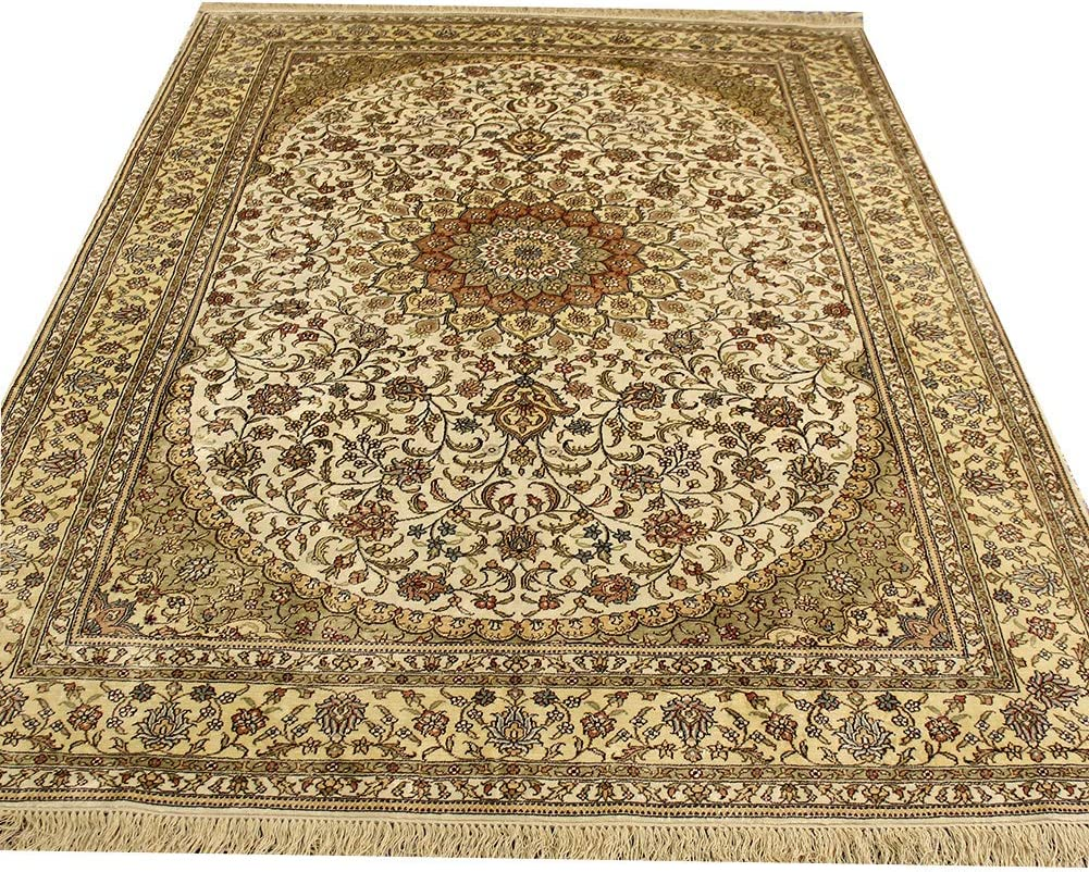 YILONG CARPET 6'x9' Ranking integrated 1st Same day shipping place Vintage Hand Knotted Area for Silk Rug Livin