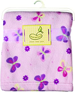 Micro Polar Blanket Pink Butterfly and Dot