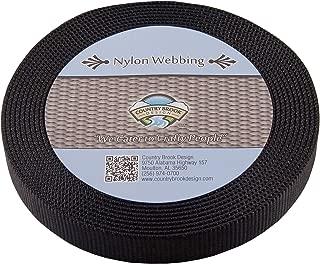 Country Brook Design - Black 1 Inch Heavy Nylon Webbing (50 Yards)