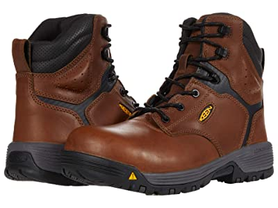 Keen Utility Chicago 6 ESD (Carbon-fiber Toe) (Tobacco/Black) Men