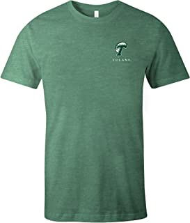 NCAA Tulane Green Wave Simple Mascot Short Sleeve Triblend T-Shirt, Grass,Grass