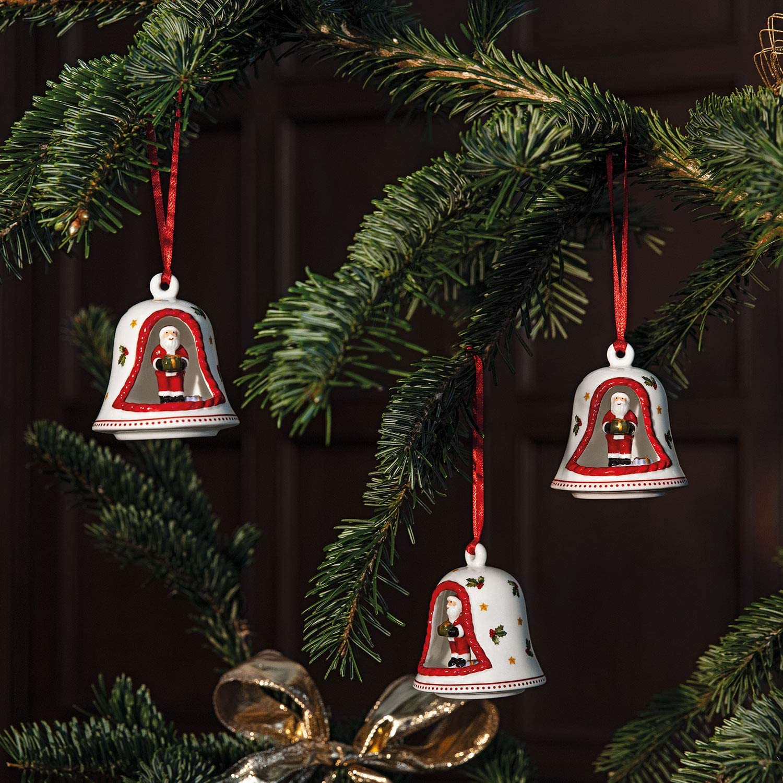 NEW NIB VILLEROY /& BOCH PORCELAIN BELL SANTA ORNAMENT MY CHRISTMAS TREE
