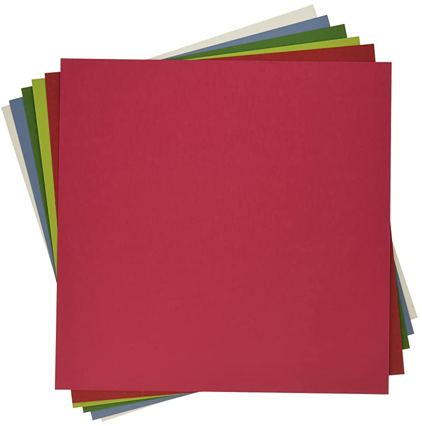 My Colors 210048 Holiday Heavyweight Cardstock Bundle (18 Pack), 12