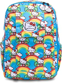 JuJuBe x Hello Kitty MiniBe Kids Backpack | Travel-Friendly, Compact, Lightweight, Padded, Adjustable Straps for Kids and Adults | Hello Rainbow