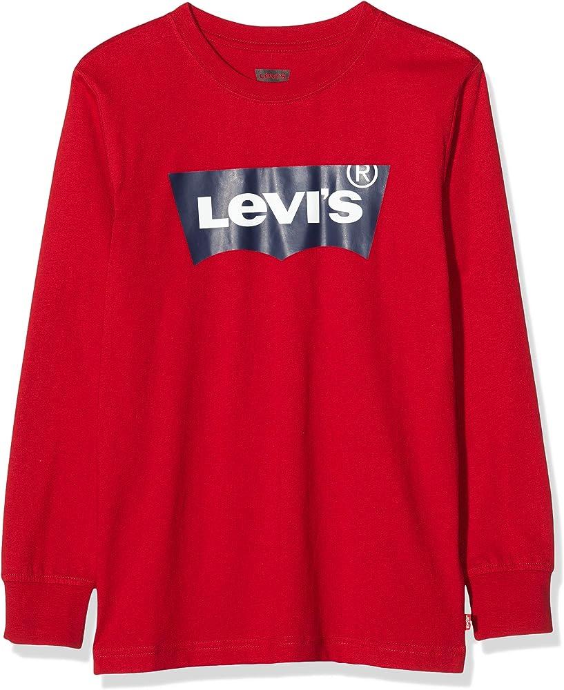 Levi`s kids, maglietta,felpa a manica lunga bambino - ragazzo,100 % cotone E8646