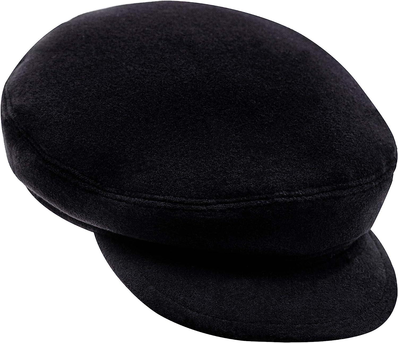 1930s Style Mens Hats and Caps Sterkowski Warm Wool Blend Petersham Fiddler Cap  AT vintagedancer.com