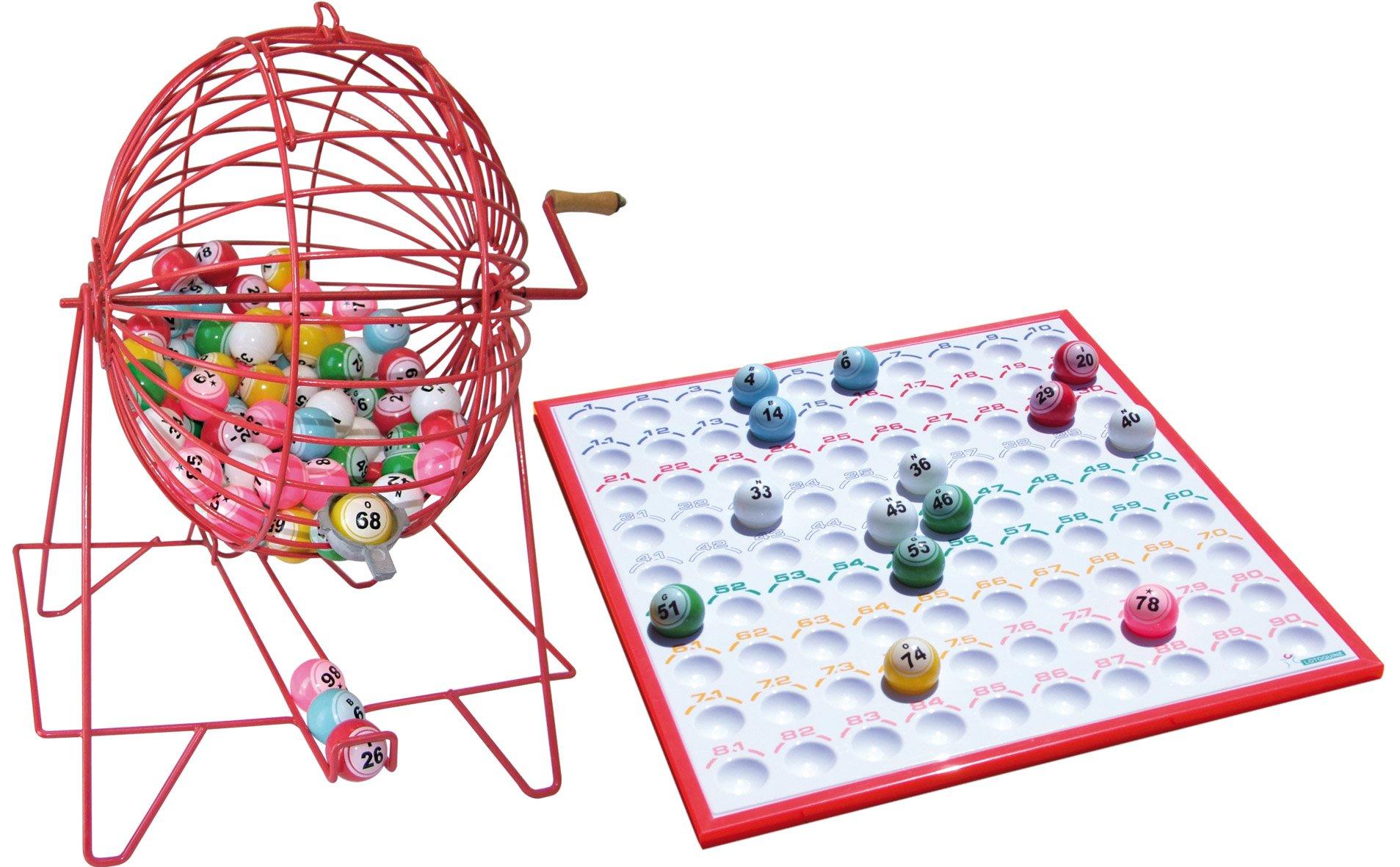 Bombo Manual de Bingo Grande: Amazon.es: Juguetes y juegos