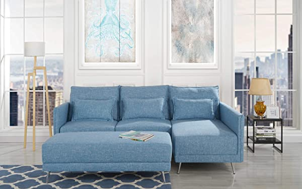 Housel Living HSL389 Sectional Sky Blue