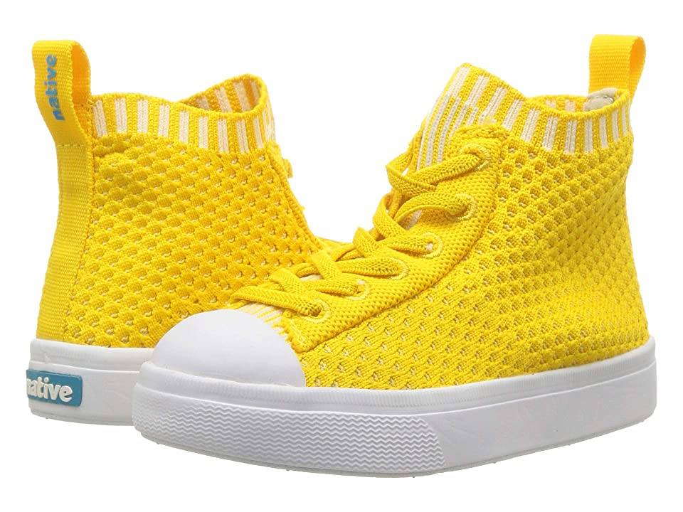 Native Kids Shoes Jefferson 2.0 High Lite (Toddler/Little Kid) (Alpine Yellow/Shell White) Kids Shoes