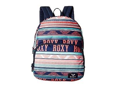 Roxy Mini Always Core Backpack (Bright White Ax Boheme Border) Backpack Bags