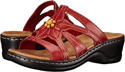 Women s Clarks Red Sandals + FREE SHIPPING