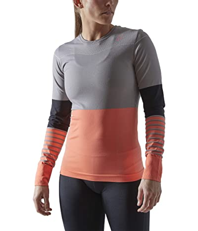 Craft Fuseknit Comfort Blocked Round Neck Long Sleeve (Monument/Trace) Women