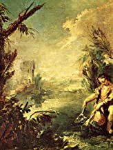 Lais Jigsaw Francesco Guardi - Painting in The Chiesa dell'Agnello Raffaele in Venice on The Story of Tobias, Scene: Tobias Fishing with The Archangel Raphael, Detail: Tobias with The Fish 100 Pieces