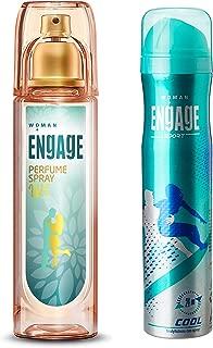 Engage W3 Perfume Spray For Women, 120ml & Sport Cool Deodorant Spray For Women, 150ml / 165ml and Engage Sport Fresh Deodorant Spray Fo Combo