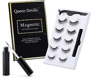 Magnetic Eyeliner and Lashes Magnetic Eyelashes Kit False Eyelashes With Reusable Waterproof Eyeliner(5 Pairs)