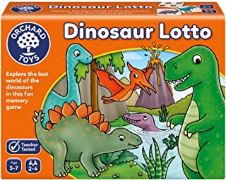 Orchard Toys Dinosaur Lotto Puzzle Game ، متعدد الألوان