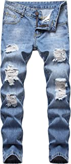 Sponsored Ad - Boy's Skinny Fit Ripped Destroyed Distressed Stretch Slim Jeans Pants