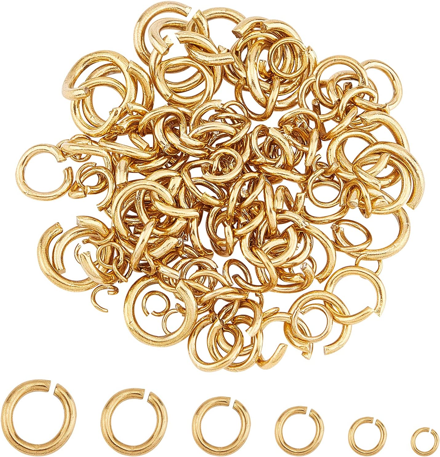 UNICRAFTALE 6 Sizes About 120pcs Connect Golden Rings Minneapolis Mall Jumps Open SALENEW very popular