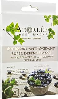 ADORLÉE Blueberry Anti-Oxidant Super-Defense Mask, 3 Sheets