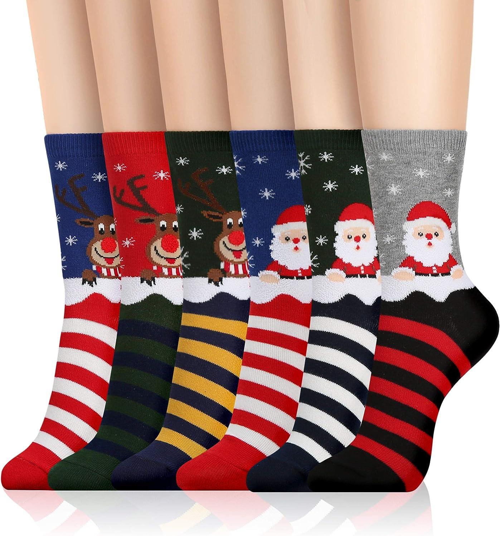 Kikiya Socks Women's Graphic Design Crew Socks