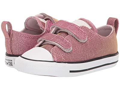 Converse Kids Chuck Taylor All-Star 2V Space Star (Infant/Toddler) (Barely Rose/Silver/White) Girls Shoes