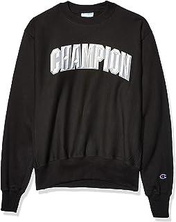 Champion Men's Reverse Weave Crew-Block Arch Sweatshirt