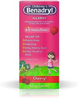 Benadryl Children's Allergy Liquid Cherry 8 oz