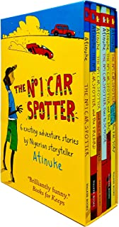 The No. 1 Car Spotter Series 6 Books Collection Box Set by Atinuke (No 1 Car Spotter, Firebird, Car Thieves, Goes to Schoo...