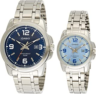Casio for Unisex - Analog Stainless Steel Band Watch - MTP/LTP-1314D-2A, Quartz