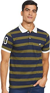 Amazon Brand - House & Shields Men's Solid Regular fit Half Sleeve Polo