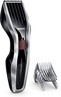 Philips Hairclipper Series 5000 Hair Clipper with Stainless Steel Blades, 24 Length Settings, 75 min Cordless Use, Black/S...
