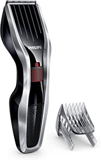 Philips Hairclipper Series 5000 Hair Clipper with Stainless Steel Blades, 24 Length Settings, 75 min Cordless Use, Black/Silver, HC5440/15