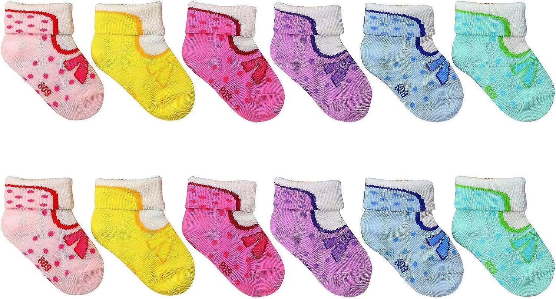 12 pairs babies socks 0-2 .5