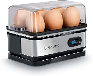 arendo – Cuiseur à œufs avec Fonction Maintien au Chaud - 1 à 6 œufs - Dur, Mollet ou à la Coque - Indicateur Lumineux - V...
