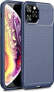 iPhone 11 Pro Case, iPhone 11 Pro Cover, Cruzerlite Design Back Cover Anti-Scratch Shock Absorption Case for iPhone 11 Pro (Carbon Blue)