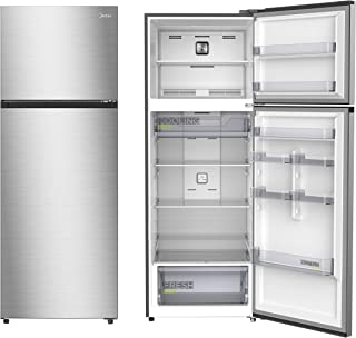 Midea Refrigerator MDRT580MTE46, Recessed Handle, Silver Finish, 411 Ltrs Net Capacity, With Chiller, 2 Glass Shelves, 1 y...