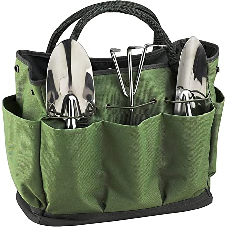 Outdoor Gardening Bag 11.0x5.7x11.8in Multi-Functional Garden Tool Storage Garden Tool Bag Portable Garden Tool Bag