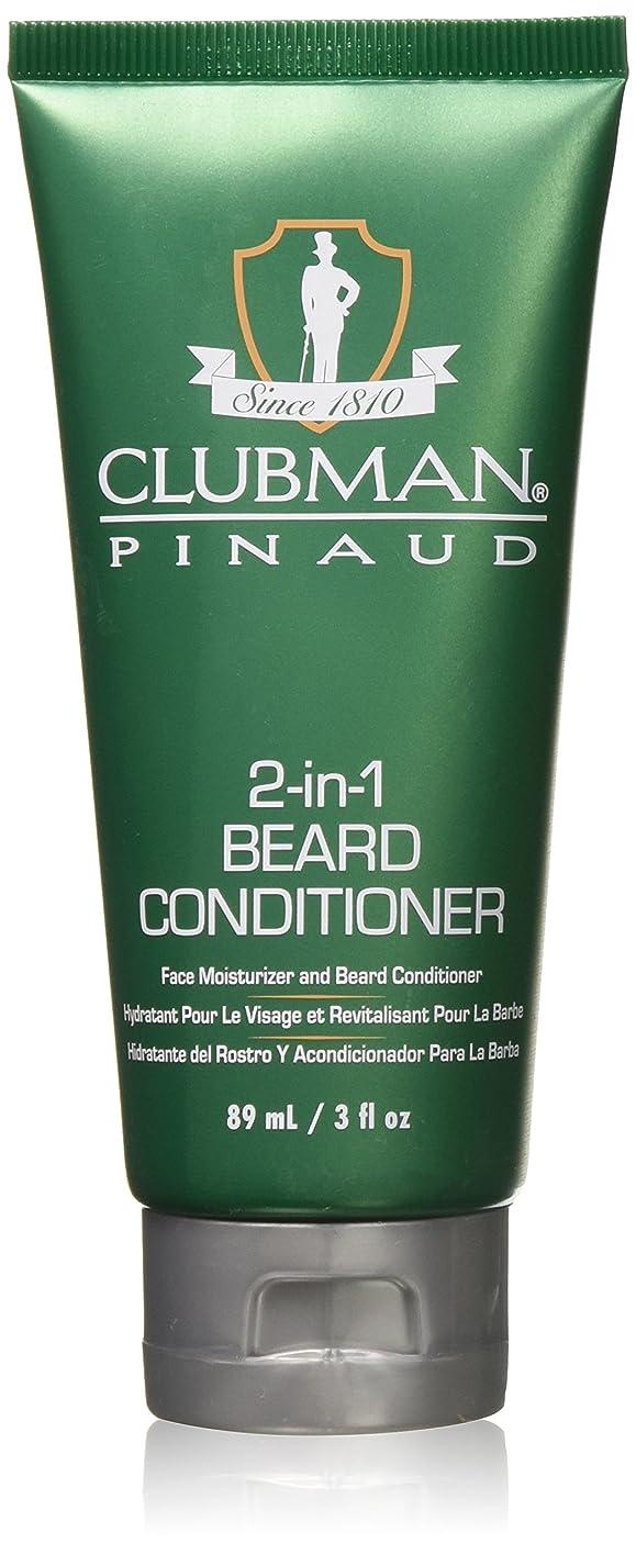 気候私たち仮称Clubman 2-IN-1ビアードコンディショナーと顔モイスチャライザー、3オズ